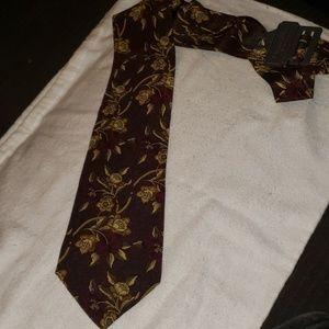 Christian Dior Monsieur Tie Silk Red Yellow Flower